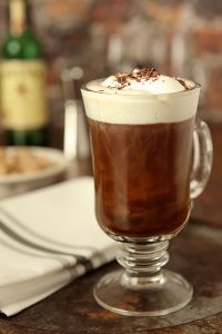 Irish coffee at Christopher's Restaurant