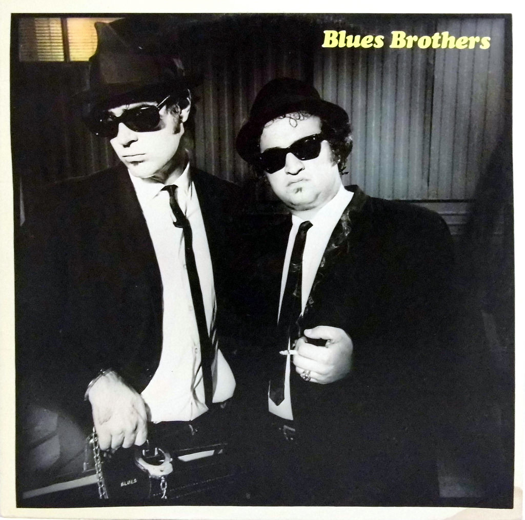 Blues Brothers classic in black and white